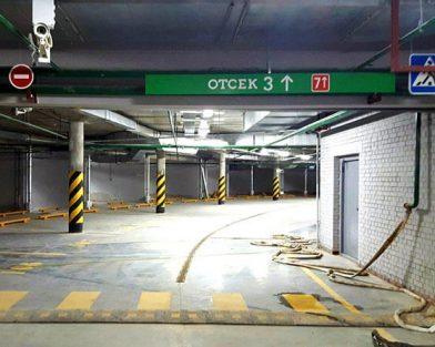 ЖК Риверсайд - оформление паркинга