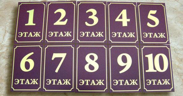 ТСЖ Дачное - указатели этажей