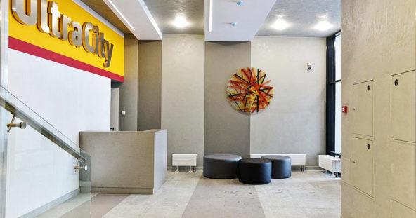 ЖК УльтраСити - вывески в лифтовых холлах